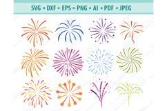 Fireworks Svg, Fireworks clipart, Firecracker Png, Eps, Dxf Product Image 1