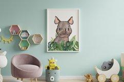 Set of 6 Safari Animal. Nursery Wall Decor. Tropical Prints. Product Image 2