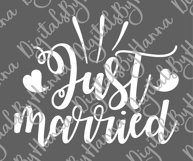 Just Married Wedding Sign Newlyweds Sublimation Print File Product Image 6