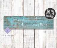 Beautiful Girl Wood Sign Stencil SVG Product Image 2