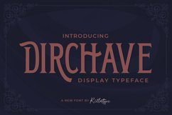 Dirchave - Display Typeface Product Image 1