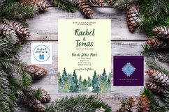 Watercolor Wooded Forest Wedding Invitation Product Image 1
