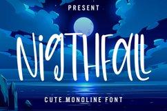 Nightfall - Cute Monoline Font Product Image 1