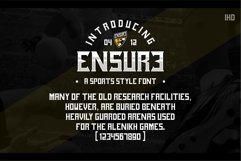 ENSURE FONT SPORTS GOTHIC Product Image 2