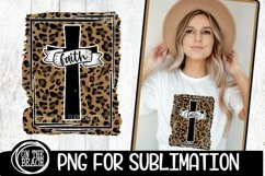 Cross - Faith - Leopard - Easter - Sublimation - 300 DPI PNG Product Image 1