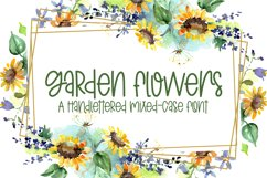 Garden Flowers - A Handlettered Mixed-Case Font Product Image 1