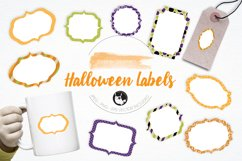 Halloween Labels graphics and illustrations Product Image 1