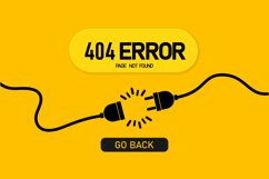 Not found page banner. Error 404. Template with electrical Product Image 1