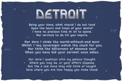 Detroit. OTF and Vector vintage font. Product Image 2