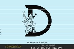 Floral Alphabet, D Letter Product Image 2