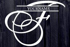 F Split monogram SVG Split letter svg Monogram font Product Image 4