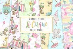 Circus digital paper, carneval paper pack, animal circus Product Image 1