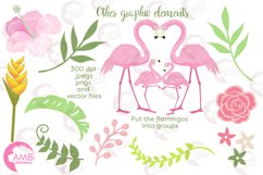 Flamingos clipart mega pack, graphics, illustrations AMB-1047 Product Image 6