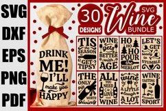 Wine Bag SVG Bundle, Christmas Wine SVG files for Cricut Product Image 1