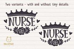 Nurse Crown with Flowers SVG, Nurse Floral SVG, Nurse Tattoo Product Image 2