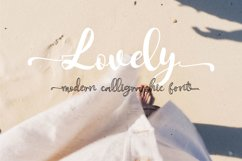 Anylove   modern scriptFont dou Product Image 3