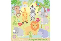 Jungle Animals Clipart Product Image 1