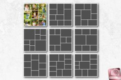12x12 Photo Collage Templates for Photographers Product Image 1