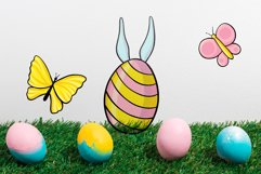 Hand drawn Easter design elements png set Product Image 6