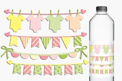 Baby clothes pennant banners clip art illustrations Product Image 1