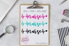 nurse svg , heartbeat design, cutting file Product Image 1