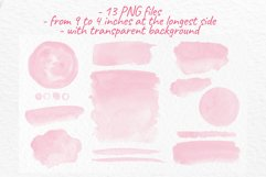 Pink watercolor washes Wedding Invitation decor Product Image 2
