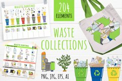 Vector collection of waste sorting clip arts, compositions Product Image 1