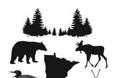 Minnesota Wilderness clip art Product Image 1