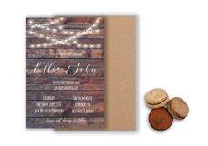 Rustic wedding invitation Product Image 1