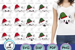 Christmas Cat Expression Bundle, Cricut Maker, Silhouette, Product Image 2