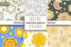 Sun and stars 12 seamless patterns Product Image 1