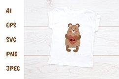 SVG Valentine Baby Animals Bundle. Love heart. Nursery. Product Image 5