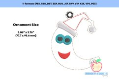 Christmas Moon Ornament Embroidery Product Image 2