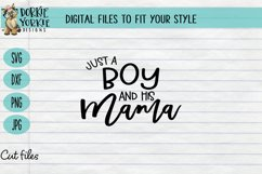 Just a Boy and his Mama - Mom boy, heart, mom, SVG cut file Product Image 1