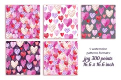 set of digital paper for valentine's day Product Image 2