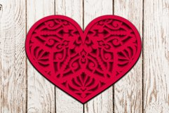 Valentines SVG | Earrings and Heart Shape Product Image 2
