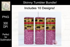 Leopard, Serape and Glitter Sublimation Tumbler Bundle Product Image 4