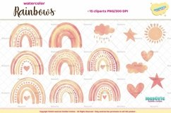 Watercolor Rainbows Clipart Product Image 4