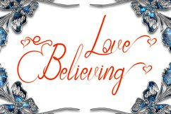 Love Believing Modern Calligraphy Product Image 1