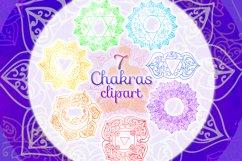 Watercolor chakras clipart 7 chakras set Yoga Meditation Product Image 1