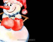 Watercolor snowman clipart, Cute Christmas diy Winter Product Image 2
