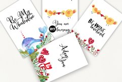 Love forest watercolor set with patterns, cards, wreaths Product Image 5