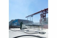 Factory for cleaning of metal by sandblasting Product Image 1