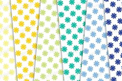 Polka dots and flowers seamless pattern, floral background Product Image 2