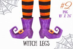Witch legs clipart Watercolor Halloween witch feet clipart Product Image 1