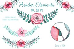Watercolor Flowers and Birds Set Product Image 3
