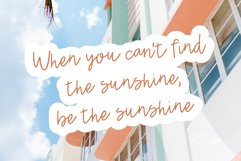 JUST PEACHY a Hand Lettered Script Font Product Image 3