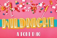 WildNight - A Hand Lettered Shimmery Font Duo Product Image 1