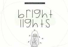 Bright Lights - A Cute Handwritten Font Product Image 1