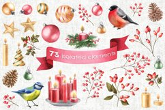 Watercolor Christmas cliparts Product Image 4